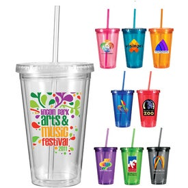 Victory Acrylic Tumbler (16 Oz., Full Color Logo)