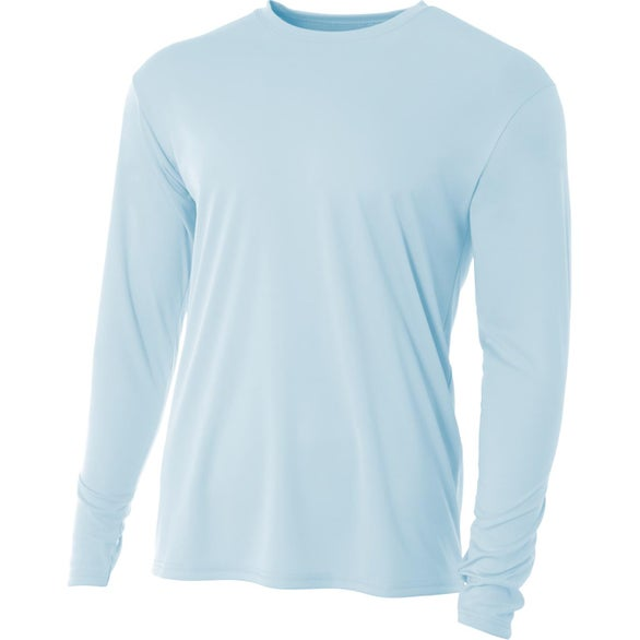 Pastel Blue A4 Cooling Performance Long Sleeve T-Shirt