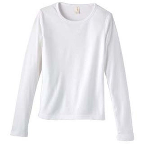 White anvil ladies 39 1x1 rib knit long sleeve scoop neck for Personalized long sleeve t shirts