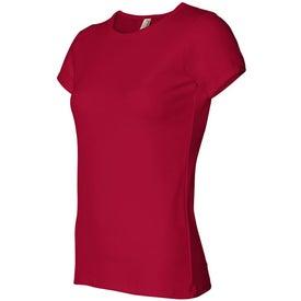 Colored Anvil Ladies Short Sleeve Scoop Neck