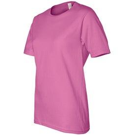Dark Ladies Scoop Neck Classic T-Shirt Imprinted with Your Logo
