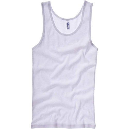 White Bella Ladies' 1x1 Rib Tank Top