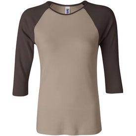 Company Bella Ladies Rib 3/4 Sleeve Raglan T-shirt