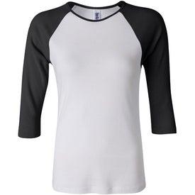 Bella Ladies Rib 3/4 Sleeve Raglan T-shirt for Marketing