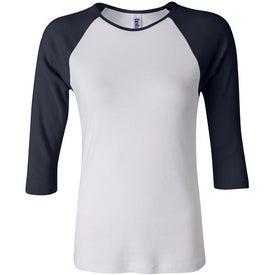 Bella Ladies Rib 3/4 Sleeve Raglan T-shirt for your School