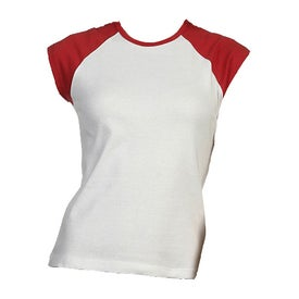 Bella Ladies' Rib Cap Sleeve Raglan T-shirt for Promotion