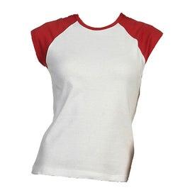 Bella Ladies' Rib Cap Sleeve Raglan T-shirt for Promotion