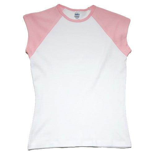 Bella ladies 39 rib cap sleeve raglan t shirt custom for Ladies custom t shirts