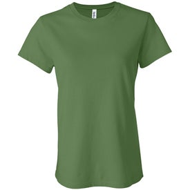 Dark Bella Ladies' Jersey T-shirt Branded with Your Logo