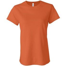 Dark Bella Ladies' Jersey T-shirt with Your Slogan