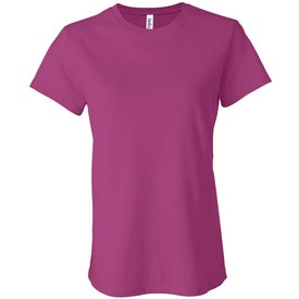 Dark Bella Ladies' Jersey T-shirt Printed with Your Logo