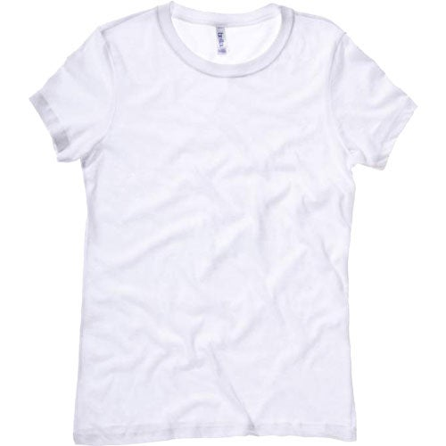 White bella ladies 39 jersey t shirt custom ladies apparel for Ladies custom t shirts