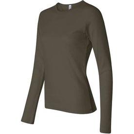 Company Dark Bella Ladies' 1x1 Rib Long Sleeve T-Shirt