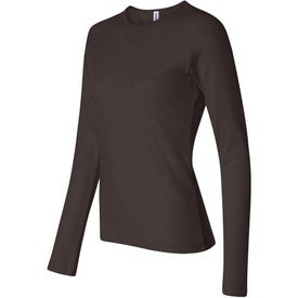 Monogrammed Dark Bella Ladies' 1x1 Rib Long Sleeve T-Shirt