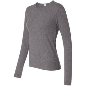 Dark Bella Ladies' 1x1 Rib Long Sleeve T-Shirt for Your Company