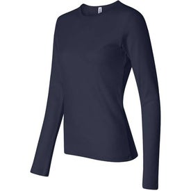 Dark Bella Ladies' 1x1 Rib Long Sleeve T-Shirt for your School
