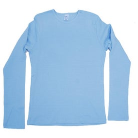 Monogrammed Dark Bella Ladies' 1x1 Rib Long Sleeve T-Shirt