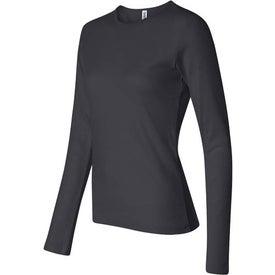 Dark Bella Ladies' 1x1 Rib Long Sleeve T-Shirt