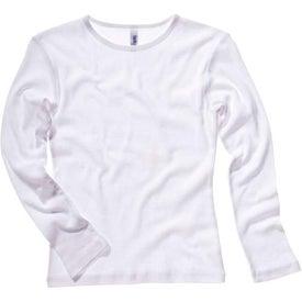 White Bella Ladies' 1x1 Rib Long Sleeve T-Shirt