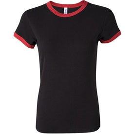 Bella Ladies' Rib Short Sleeve Ringer T-shirt