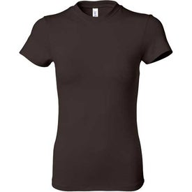 Dark Ladies' Short Sleeve Cotton/Spandex T-shirt