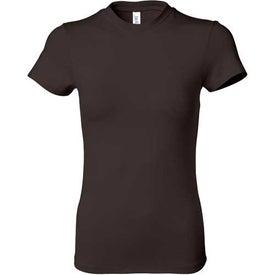 Dark Ladies' Short Sleeve Cotton/Spandex T-shirt