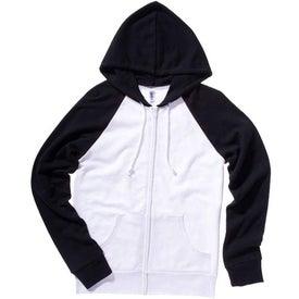 Bella Ladies' Two-Tone Raglan Full-Zip Hooded Sweatshirt