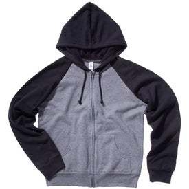 Promotional Bella Ladies' Two-Tone Raglan Full-Zip Hooded Sweatshirt