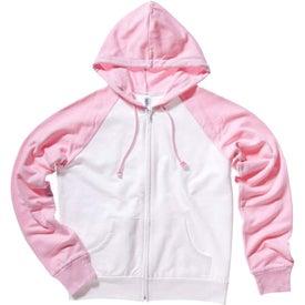 Branded Bella Ladies' Two-Tone Raglan Full-Zip Hooded Sweatshirt