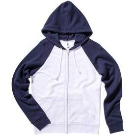 Bella Ladies' Two-Tone Raglan Full-Zip Hooded Sweatshirt for Promotion
