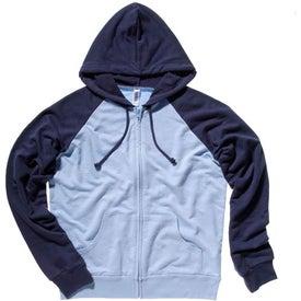 Bella Ladies' Two-Tone Raglan Full-Zip Hooded Sweatshirt for Advertising
