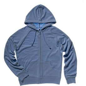 Logo Bella Ladies' Raglan Full-Zip Hooded Sweatshirt