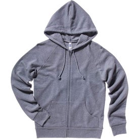 Bella Ladies' Raglan Full-Zip Hooded Sweatshirt Imprinted with Your Logo