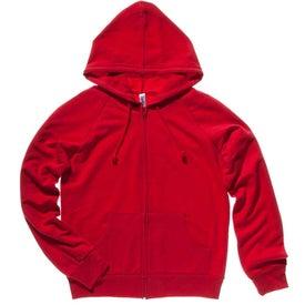 Printed Bella Ladies' Raglan Full-Zip Hooded Sweatshirt