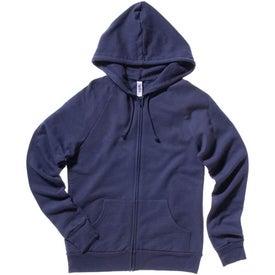 Bella Ladies' Raglan Full-Zip Hooded Sweatshirt