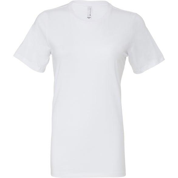 White Bella+Canvas Relaxed Fit Jersey T-Shirt