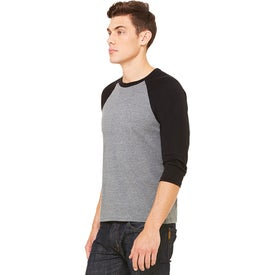 Bella+Canvas Baseball Sleeve T-Shirts (Men''s, Gray/Black)