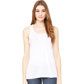 Bella+Canvas Women's Flowy Racerback Tank Top (White)