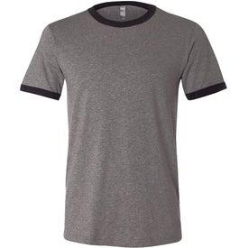 Monogrammed Canvas Brand Mens Short Sleeve Ringer T-Shirt