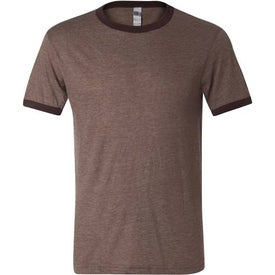 Printed Canvas Brand Mens Short Sleeve Ringer T-Shirt