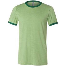 Canvas Brand Mens Short Sleeve Ringer T-Shirt for Customization