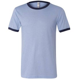 Canvas Brand Mens Short Sleeve Ringer T-Shirt with Your Logo