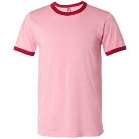 Logo Canvas Brand Mens Short Sleeve Ringer T-Shirt
