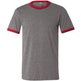 Canvas Brand Mens Short Sleeve Ringer T-Shirt for Advertising