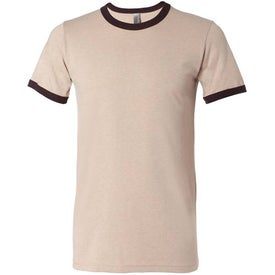 Canvas Brand Mens Short Sleeve Ringer T-Shirt Imprinted with Your Logo