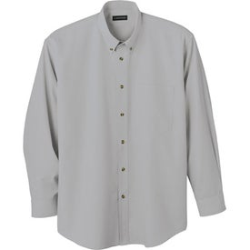 Capulin Long Sleeve Dress Shirt by TRIMARK Imprinted with Your Logo