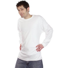 Fruit of the Loom Long Sleeve Cotton T-Shirt with Your Slogan
