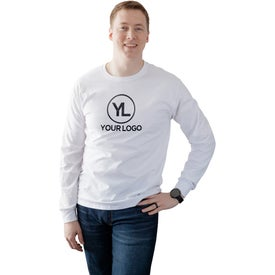 Fruit of the Loom Long Sleeve Cotton T-Shirt (White)