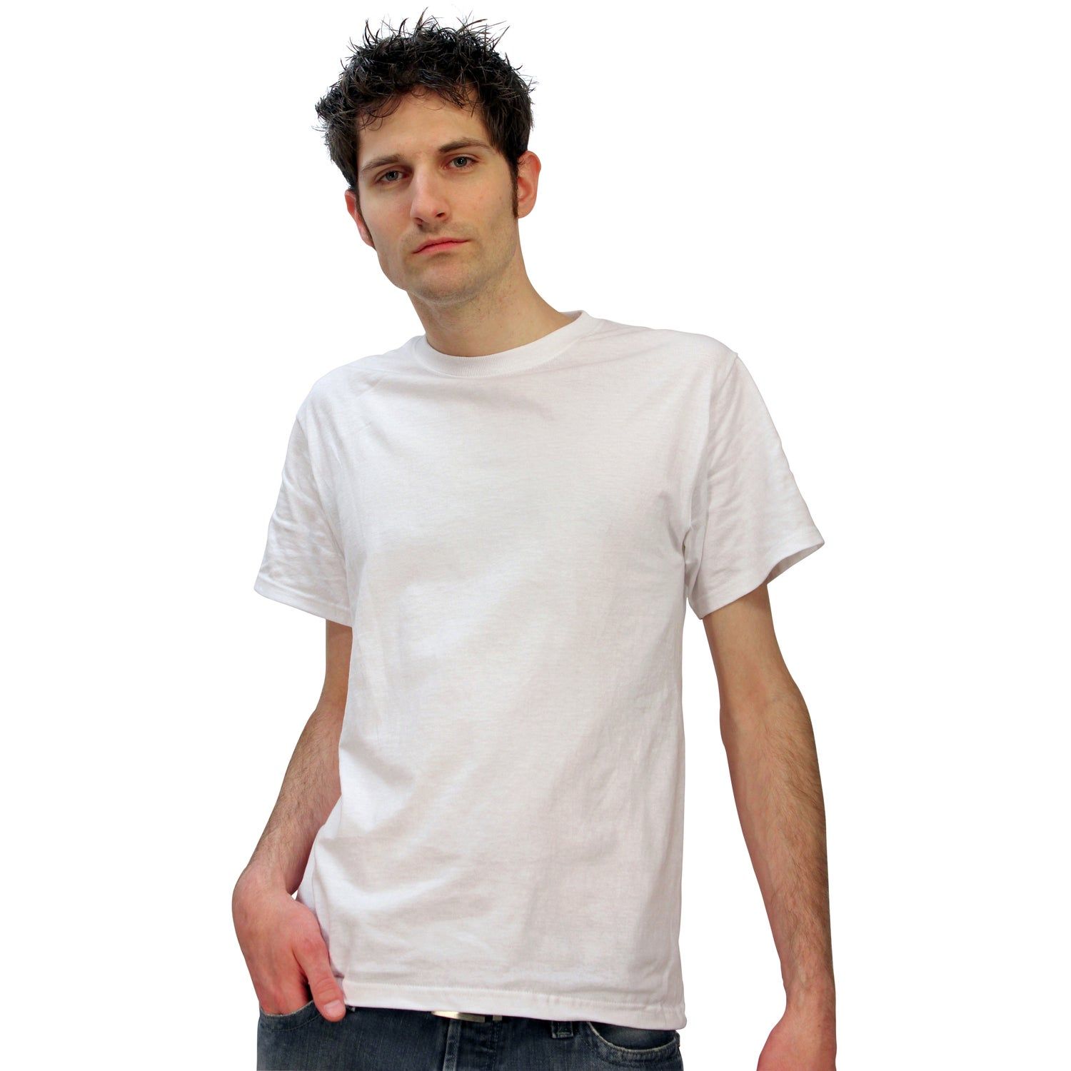 Fruit of the loom heavy cotton t shirt white 100 for Fruits of the loom t shirts