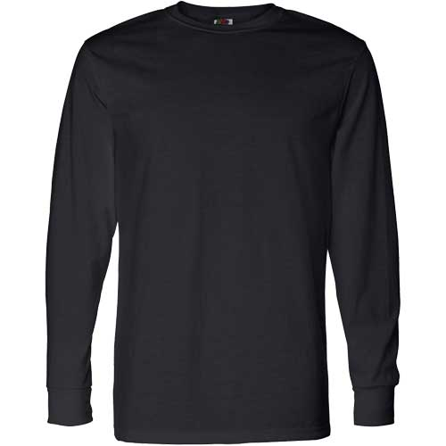 Dark fruit of the loom best 50 50 long sleeve t shirt for Long sleeve custom t shirts